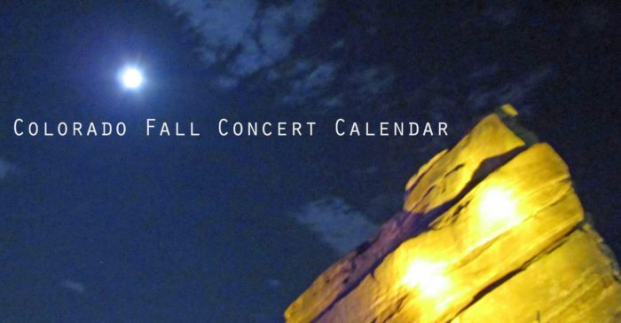 Denver Concert Calendar Oct – Dec