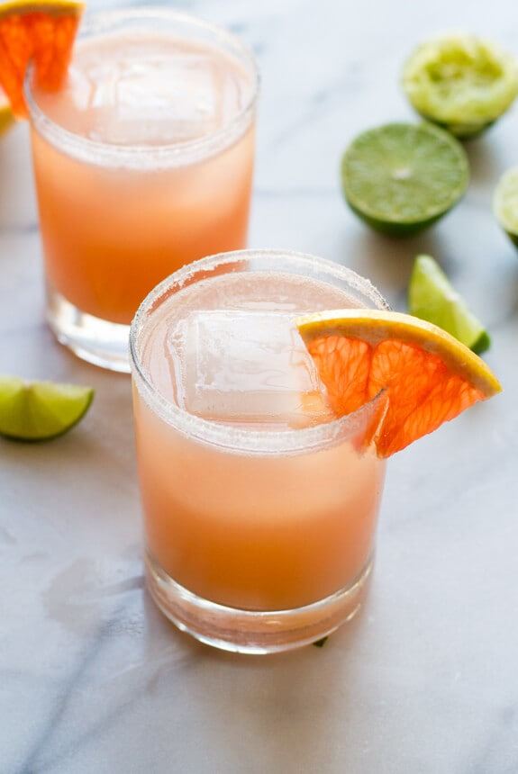 Fizzy Grapefruit Margaritas