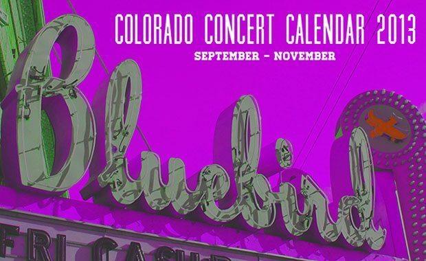 Colorado Fall Concert Calendar