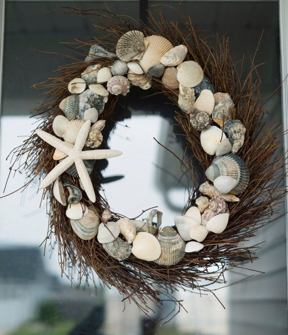 Seashell Christmas Wreath