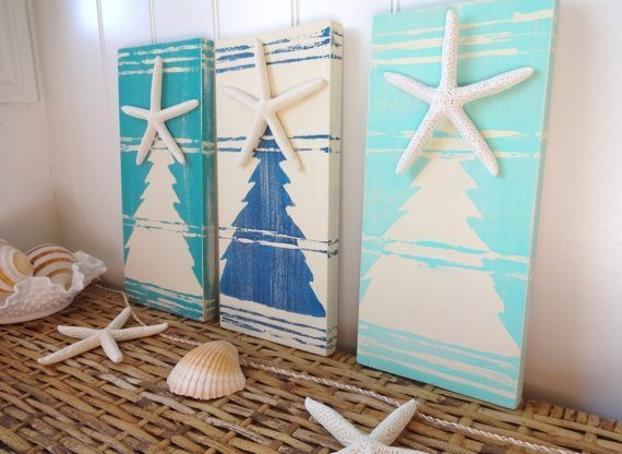 Beach Christmas Tree Paintings