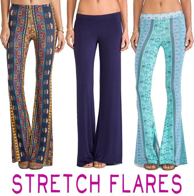 Patterned Flare Pants – Festival Flares