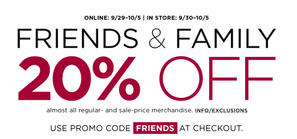 Bloomindales Friends & Family Sale
