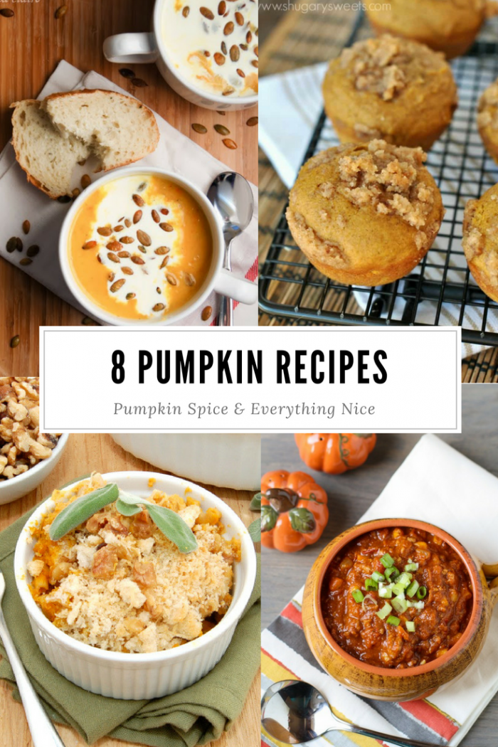 8 pumpkin spice recipes for fall