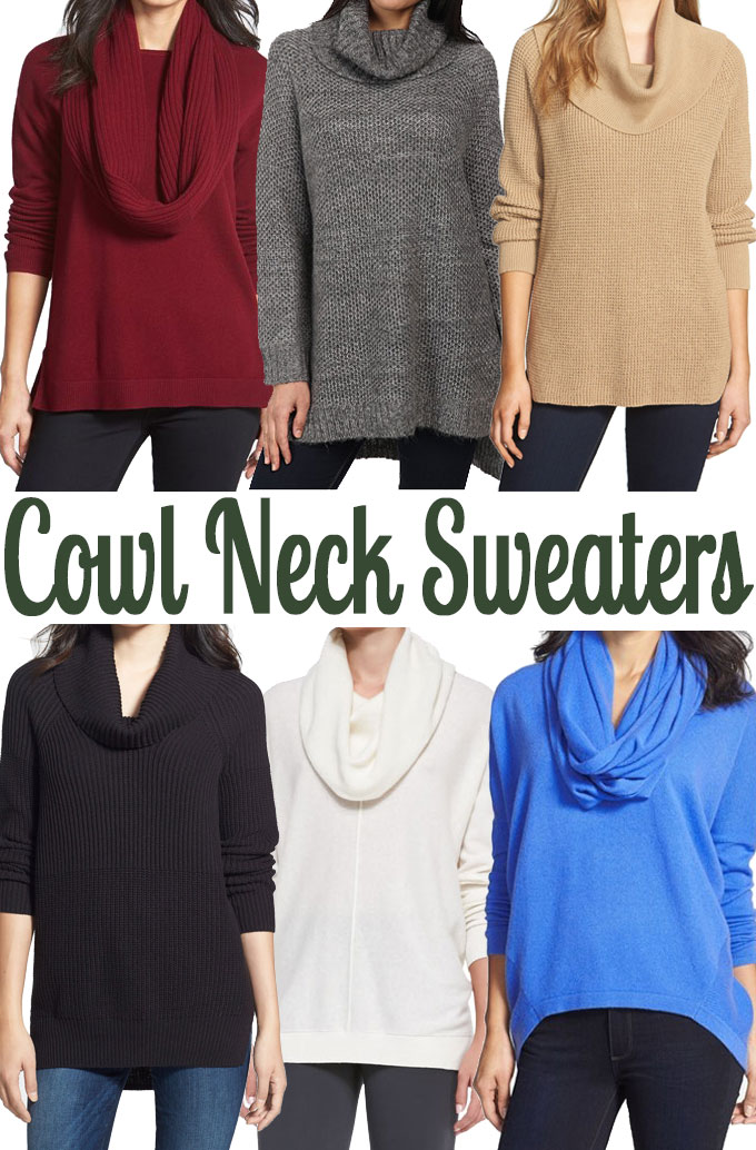 Cowl Neck Sweaters