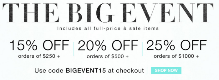 Shopbop's Big Event 2015