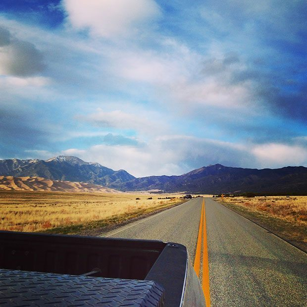 The view looking back on Great Sand Dunes National Park