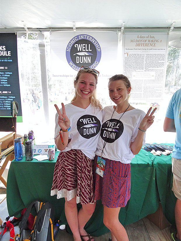 Bonnaroo 2015 Well Dunn Interns | Blue Mountain Belle