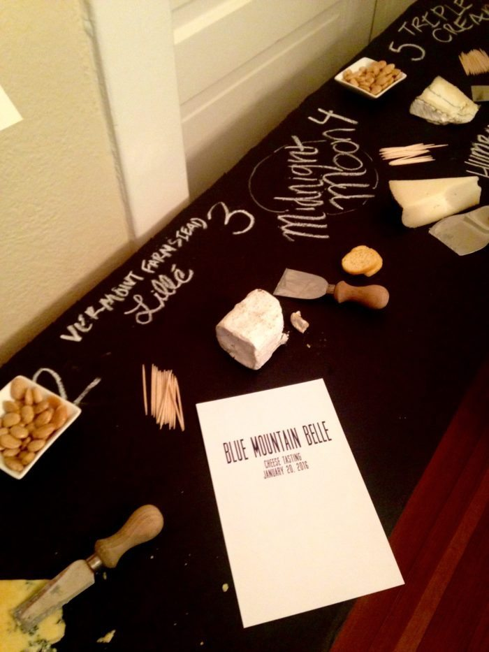 Blue Mountain Belle Cheese Tasting Party