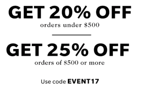 Shopbop 25% Off Event
