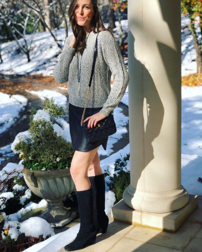 Short Skirt & Longgggg Sweater