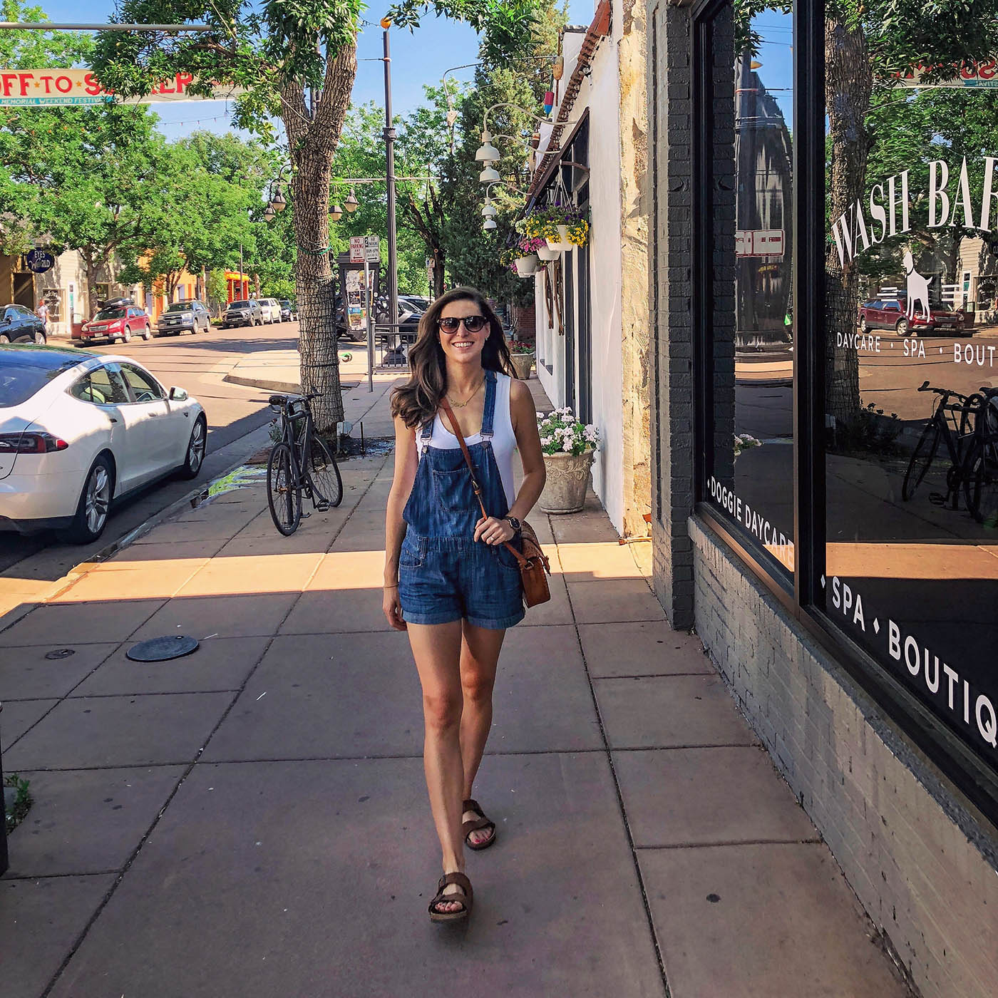Blue Short Overalls for Summer | Blue Mountain Belle