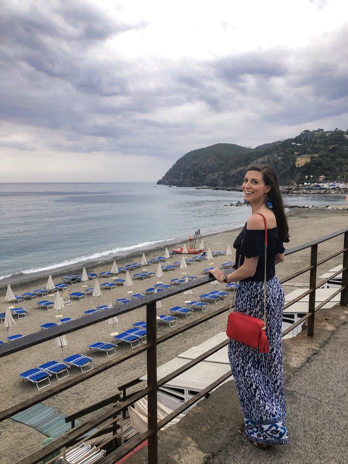 Blue Palazzo Pants in Levanto, Italy + Tropical Giveaway!