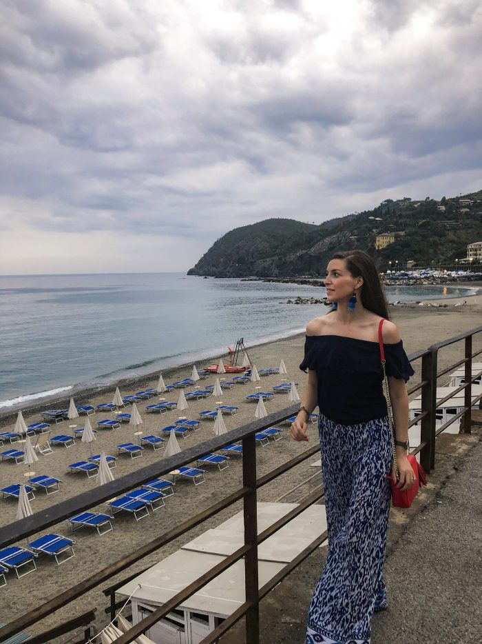 Blue Palazzo Pants in Levento, Italy | Blue Mountain Belle
