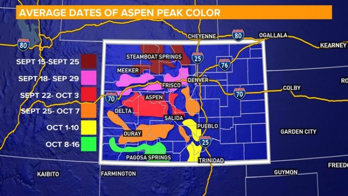 Average Colorado Fall Colors Map