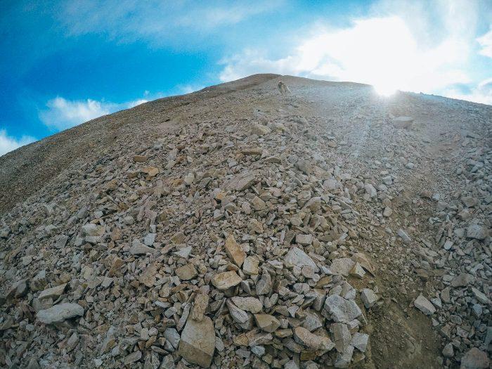 Hiking 14er Mt. Sherman in Colorado