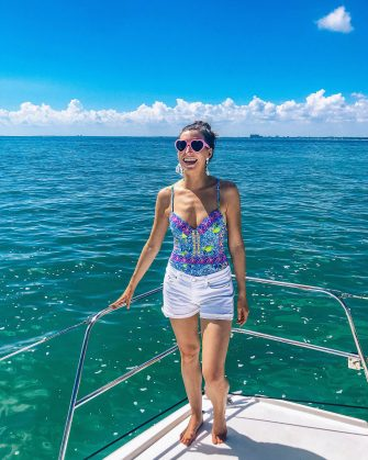 Blue Mountain Belle in Lilly Pulitzer One Piece in Miami