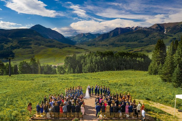 Blue Mountain Belle Wedding Drone Photos of ceremony